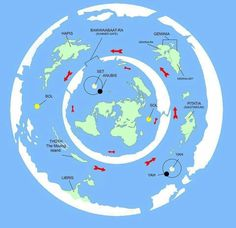 Here's an artist's idea of a flat earth possibility. It's fun to believe in a different world...  What's really out there?!