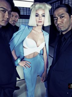 Carolyn Murphy, wearing Nicholas Ghesquiere for Balenciaga, photographed by Mario Testino for US Vogue March 2013