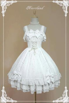 3b9359b97dd Neverland Lolita Dress White Goth Dress