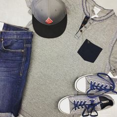 Help us out guys! Sell us your gently used clothing and shoes and get cash on the spot! {A&F shirt size L $8}{Bluenotes shorts size 32 $10}{Converse size 8 $20}{Volcom hat $12} #iloveplatoskw #guysgear #getthislook #styleforless | www.platosclosetkitchener.com