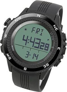 7d2abf01088d [Lad Weather] Watch Running Outdoor Digital Compass Altimeter Chronograph  Weather Forecast German Sensor Outdoor Wrist Sport Watches (Climbing/  Running/ ...
