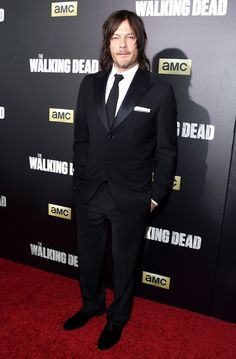 Norman Reedus from The Walking Dead Stars at Season 6 Premiere  Daryl always cleans up nicely.