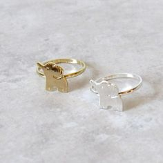 Baby Elephant Rings via Kloica Accessories. Click on the image to see more!