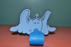 Light blue blowouts with the beloved Horton from Dr. Seuss works Horton Hears a Who and Horton Hatches an Egg Each blowout has a thick card stock
