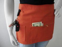 SIENNA Vendor Apron - Unisex -  Canvas Waitress Apron - Hostess Apron