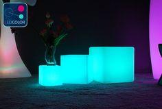 Cubik Cube lumineux multicolore autonome 40x40cm