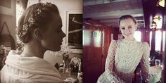 The Bride Wore Baby's Breath! Model Frida Gustavsson's Flower Crown Braid