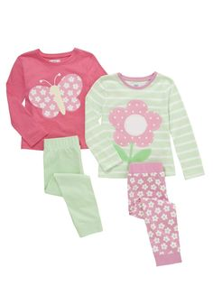 Tesco 2 Pack of Daisy and Butterfly Pyjamas