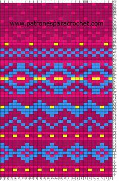 free crochet pattern - wayuu bag Crochet Bedspread Pattern, Tapestry Crochet Patterns, Fair Isle Knitting Patterns, Intarsia Patterns, Crochet Motifs, Fair Isle Pattern, Bead Loom Patterns, Knitting Charts, Crochet Chart