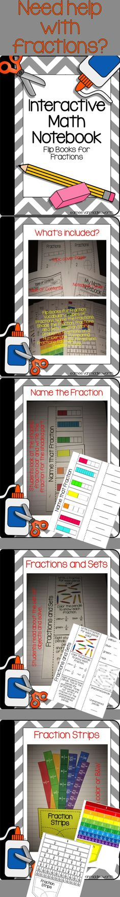 Math Interactive Notebook for Fractions