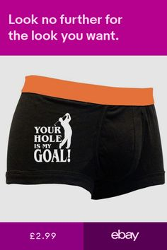 cbb37b704822 Your Hole is My Goal Mens Funny Rude Boxer Shorts-Boyfriend Novelty Gifts