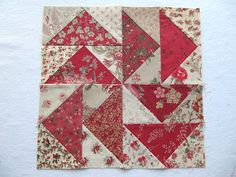 April is the Flying Geese Quilt Block  # 3  Sew Many Ways Blog Block of the Month  12.5 inch unfinished quilt block