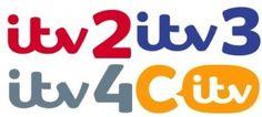 Logos for ITV2, ITV3, ITV4 and CITV