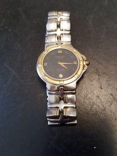 #jewelry Raymond Weil Parsifal 9190 18 K gold Bezel with Diamond Black Dial please retweet