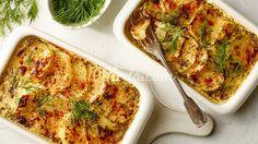 Запеканка из лосося и картофеля