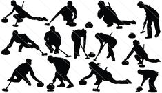 Get this awesome sports silhouette, Curling Silhouette Vector. Sports Graphics, Silhouette Vector, Sports Art, Winter Fun, Circuits, Roller Skating, Cross Stitch Designs, Vector Design, Grandchildren