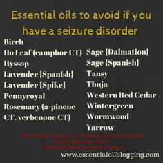 Oils to Avoid if You Have a Seizure Disorder (Safe Usage) Essential Oil Safety, Essential Oils For Colds, Young Living Essential Oils, Essential Oil Blends, Rolandic Epilepsy, Epilepsy Awareness Month, Epilepsy Facts, Seizure Disorder, Plant Therapy