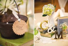 Beautiful wedding... monograms and colour scheme.  Rustic done REALLY well.