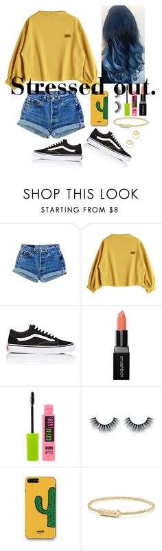 """""""RTD: So stressed about history day"""" by gussied-up ❤ liked on Polyvore featuring Vans, Smashbox, Maybelline, WithChic, David Yurman and Madewell"""