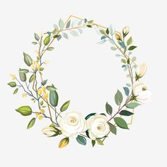Wreath Watercolor, Watercolor Flowers, Flor Magnolia, Wedding Card Design Indian, Gold Wallpaper Background, Hand Embroidery Patterns Flowers, Christian Posters, Calander, Birthday Frames