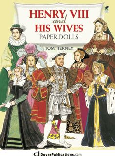Henry VIII and His Wives Paper Dolls - coming to http://www.dkkdolls.com/store soon