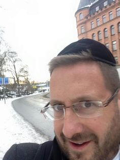 """""""I just got out of the airport in Sweden and someone came running over to me and said: """"I am Jewish and suggest that you put on a hat to cover your kippa. It is dangerous here.״ I refuse. I am Jewish and proud! #jewishinswedenandproudofit""""   Humans of Judaism"""