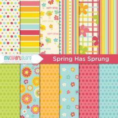Digital Paper - SHS6 - Spring Has Sprung - Instant Download