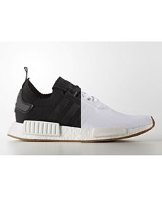 free shipping 62adf fb6e8 Adidas NMD R1 Gum Pack White Black Primeknit Shoes Adidas black style, but  also very