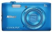 Nikon Coolpix S3600 Point and Shoot Camera (Blue)