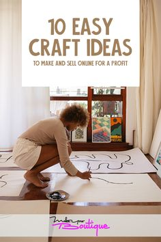 Turn your hobby into profit by looking at these 10 easy yet popular craft ideas you can make and dell online.     #craft #sell #online
