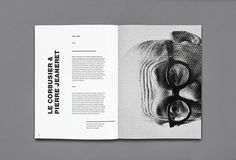 Maybe it's Great is part of Book design layout - The Legacy of Le Corbusier designed by Enle Li Le Corbusier, Editorial Design Layouts, Page Layout Design, Magazine Layout Design, Layout Book, Book Layouts, Magazin Design, Buch Design, Print Layout