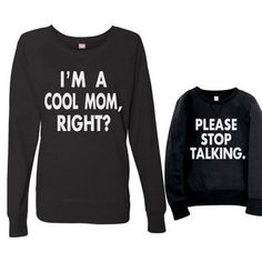 Mommy Me TShirt - Mom & Me Slouchy Pullover Shirts - Mom and Me Lightweight Sweatshirt - Mother Daughter Shirt Set - Funny Mother Daughter Mom And Son Outfits, Matching Family Outfits, Matching Shirts, Kids Outfits, Matching Clothes, Mama T Shirt, Mommy And Me Shirt, Mommy And Son, Family Shirts