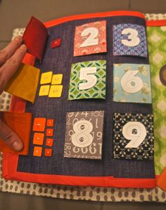 counting buttons quiet book page