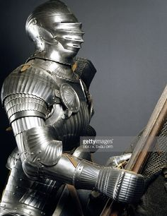 Stock Photo : Horseman's armor in steel, made in southern Germany, 1510-1515, Germany, 16th century