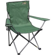 Quik Chair Folding Quad Camp Chair, Green