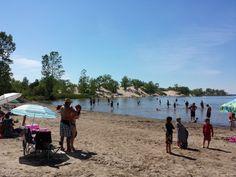 Dunes Beach, Sandbanks Provincial Park in Prince Edward County, Ontario, Canada Ontario Beaches, Prince Edward, Beach Resorts, Dune, Toronto, Things To Do, Dolores Park, Canada, Travel
