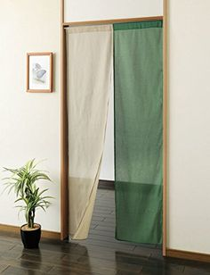 Japanese Cotton Noren Curtain long type Beige/Green ** Check out the image by visiting the link. (This is an affiliate link and I receive a commission for the sales) Noren Curtains, Diy Curtains, Diy Room Divider, Curtain Divider, Doorway Curtain, Teen Bedroom Designs, Interior Decorating, Interior Design, Soft Furnishings
