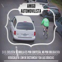 Cuando veas un ciclista en la calle, rebásalo a 1,5 mts Recuerda que tu también haces parte la solución vial. #Asesorias #Transito #Tramites #Tramisander #Bucaramanga #Giron #Floridablanca www.tramisander.com