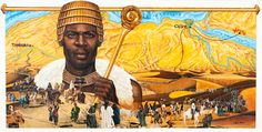 "Mansa Musa was the richest man on the planet in his day. He was the ruler of the Mali Empire (which included the legendary trade hot-spot, Timbuktu). Many scholars contest that the amount of gold Musa controlled at that time can not be matched by even the richest billionaire in the world today. And for those who don't know, Mansa is a Mandinka word meaning ""King of Kings"" or ""emperor.""  Mansa Mussa.jpg (900×454)"