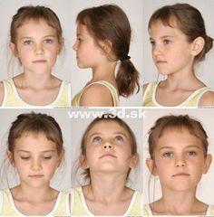 "Making Of ""Young Girl"" door Viki Yeo Face Drawing Reference, Human Poses Reference, Pose Reference Photo, Body Reference, Anatomy Reference, Girl Anatomy, Head Anatomy, Head Angles, Face Angles"