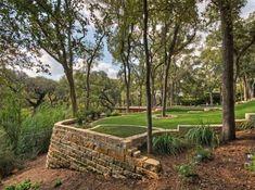 mur de soutènement jardin deco espaces exterieurs