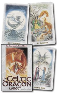 The Celtic Dragon Tarot Kit. One of the first oracle/tarot decks I purchased. Divination Cards, Tarot Cards, Wiccan, Magick, Pagan, Dragon Energy, Types Of Dragons, Indigo Children, Oracle Tarot