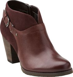 Clarks Artisan Mission Parker booties are the perfect reddish brown for fall.