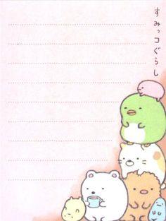 pale pin Sumikkogurashi animal in corner mini Note Pad 3