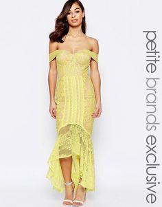 Jarlo+Petite+Allover+Lace+Crochet+Off+Shoulder+Maxi+Dress