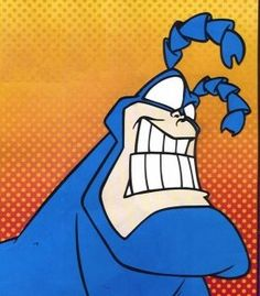 the tick one the best cartoons ever! Comic Book Characters, Comic Book Heroes, Comic Character, Comic Books, Best Cartoons Ever, Cool Cartoons, Heroes Wiki, Big Dragon, I Love To Laugh