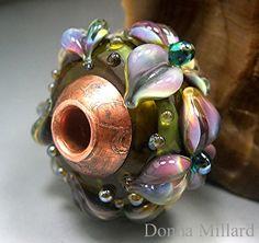 Handmade lampwork glass beads by Donna Millard - Fyre Beadz.  I love this bead.  http://www.fyrebeadz.com