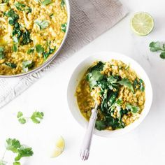 Cauliflower and Lentil Dal with Easy Curry Paste Honey Cauliflower, Belly Fat Burner Workout, Paste Recipe, Green Lentils, Curry Paste, Fresh Ginger, Base Foods, Plant Based Recipes, Easy Healthy Recipes