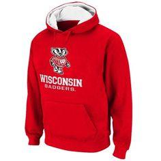Wisconsin Badgers Logo & School Pullover Hoodie – Cardinal
