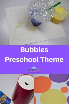 Bubbles are everywhere!  In our toys, games, food, bath time and more! What would be better than a bubble preschool theme!